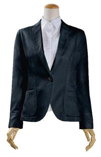S75SKJ871 ネイビーシャンブレーツイルジャケット レディースジャケット