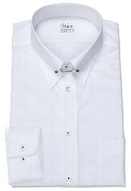 S71SKFV52 ヘリンボーンホワイト メンズオーダーシャツ