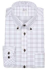 S71SKBY14 ワインレッドグラフチェック メンズオーダーシャツ