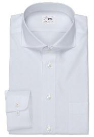 S71SKFZ65 ホワイトカルゼドビー メンズオーダーシャツ