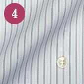 レディースオーダーメイドシャツ - ブルーストライプ