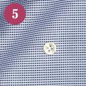レディースオーダーメイドシャツ - 80番手双糸ネイビー×ホワイトロイヤルオックス