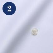 メンズオーダーメイドシャツ - ホワイトピンオックス